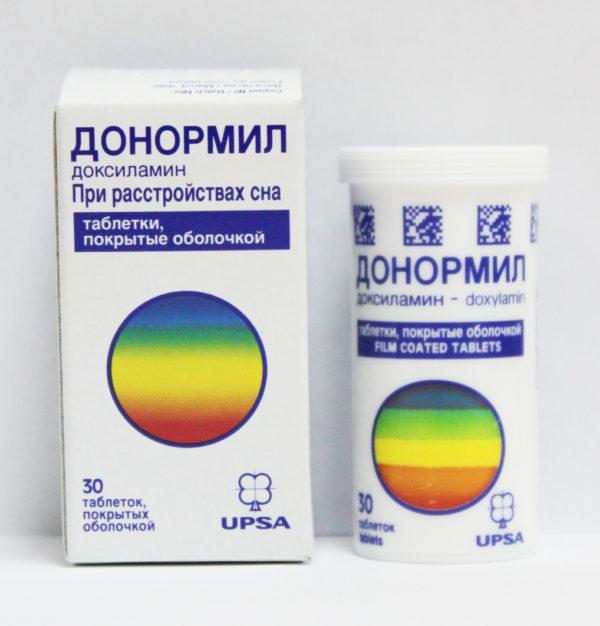 Снотворное средство Донормил.